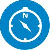 kompas-blue